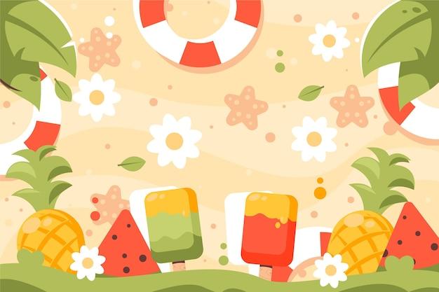 Concept coloré de fond d'été