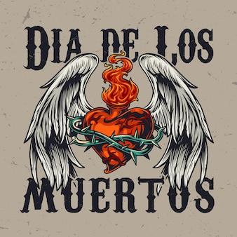 Concept coloré de la journée mexicaine des morts