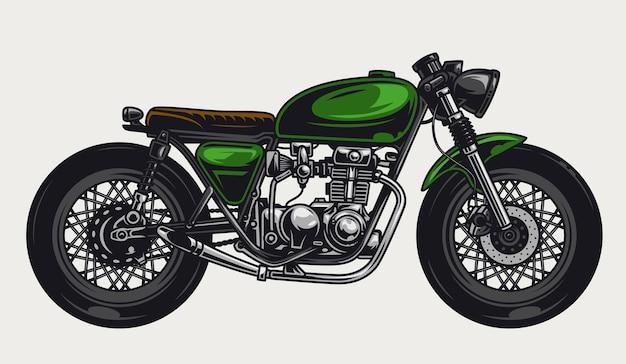 Concept coloré vintage de moto