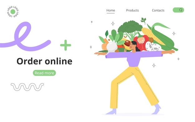 Concept de commande de nourriture en ligne
