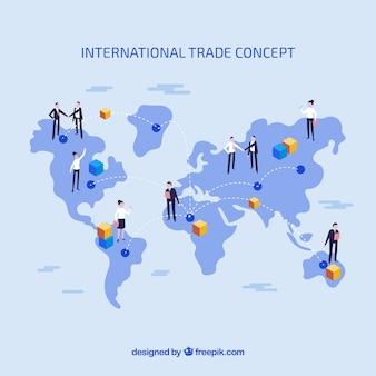 Concept de commerce international avec un design plat