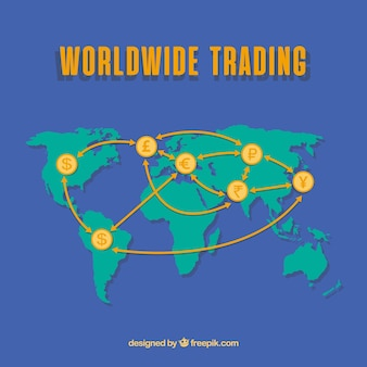 Concept de commerce international moderne