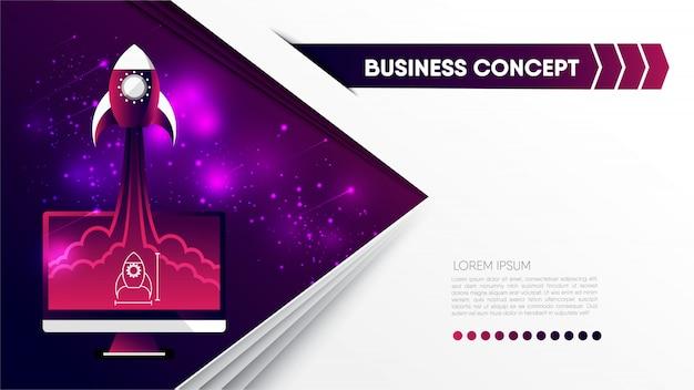 Concept commercial abstrait implique une croissance des activités, progressive, démarrage.