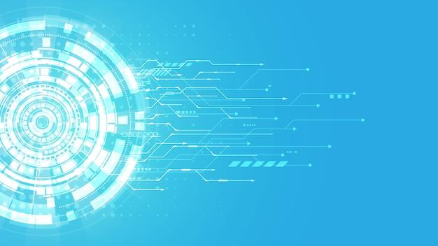 Concept de communication de fond technologie abstraite