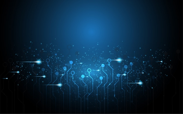 Concept de communication de haute technologie fond abstrait