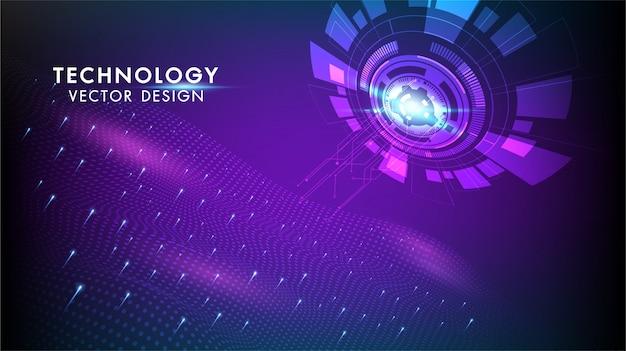 Concept de communication hi-tech de fond abstrait technologie