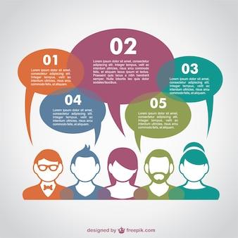 Concept de communication infographie vecteur libre