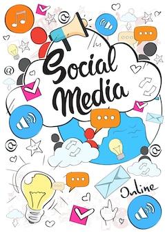 Concept de communication sur les médias sociaux