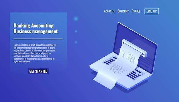 Concept de comptabilité bancaire, gestion d'entreprise et gestion financière