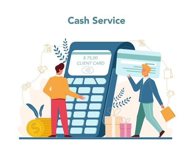 Concept de comptabilité et de calculs de caisse du vendeur