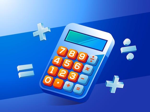Concept de comptabilité financière de la calculatrice