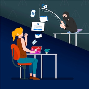 Concept de compte de phishing
