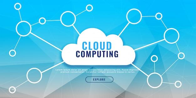 Concept de conception de bannière informatique en nuage