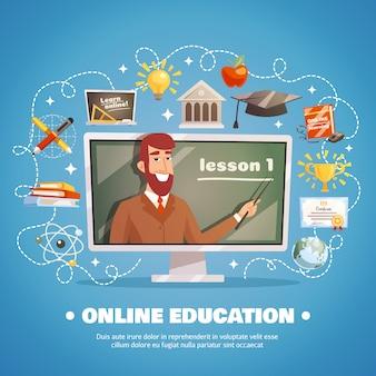 Concept de conception de l'éducation en ligne