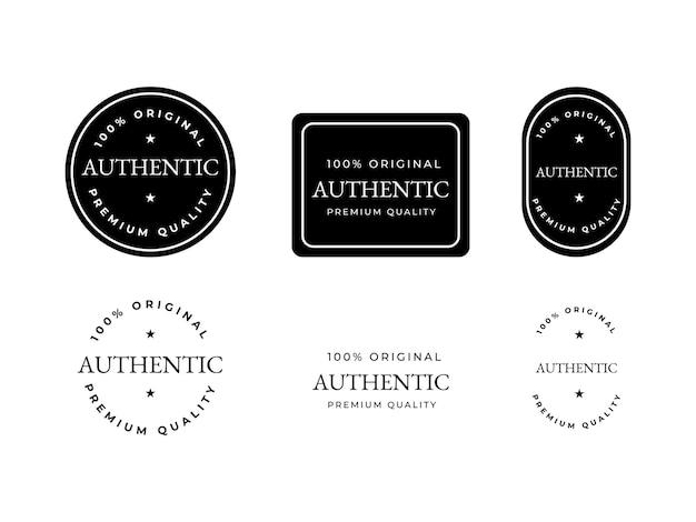 Concept de conception d'étiquette d'insigne authentique