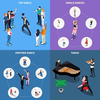 Concept de conception isométrique de danses