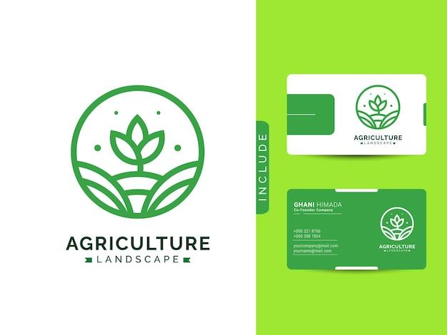 Concept de conception de logo agricole