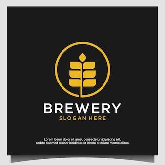 Concept de conception de logo de brasserie. conception de brasserie universelle.
