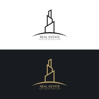 Concept de conception de logo commercial d'entreprise immobilière