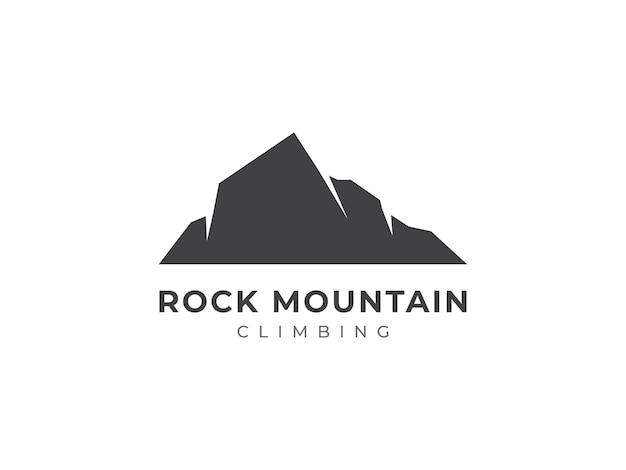Concept de conception de logo d'escalade de roche