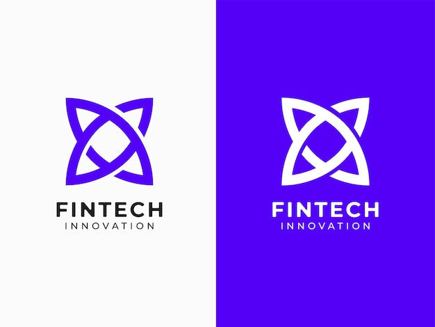 Concept de conception de logo fintech moderne