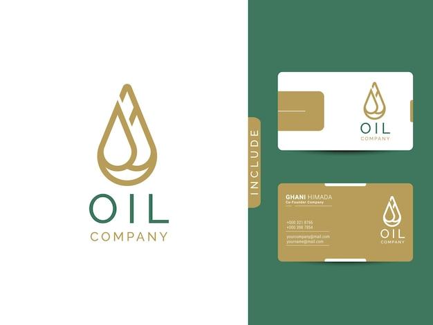 Concept de conception de logo d'huile