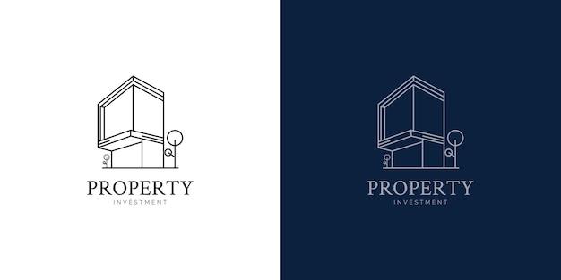Concept de conception de logo d'investissement immobilier