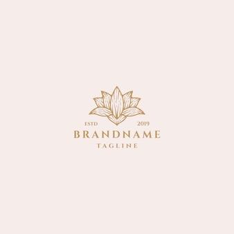 Concept de conception de logo lotus.