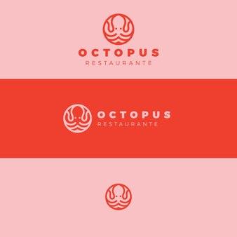 Concept de conception de logo de poulpe