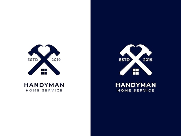 Concept de conception de logo de service à domicile bricoleur