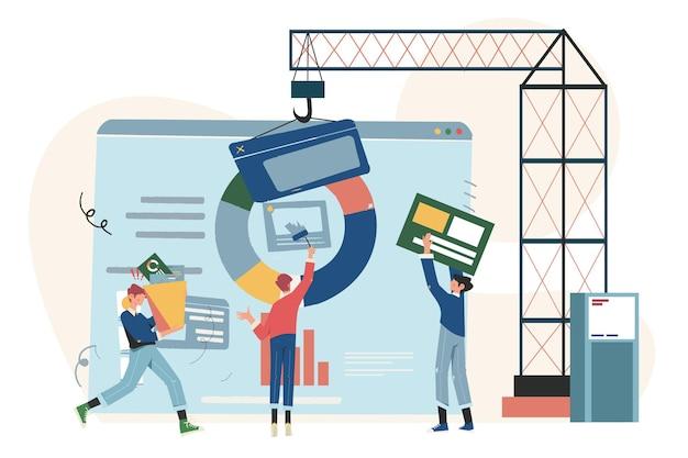 Concept de conception de pages web et développement de sites web et d'applications mobiles