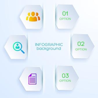 Concept de conception de papier infographie entreprise