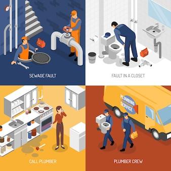 Concept de conception de service de plomberie