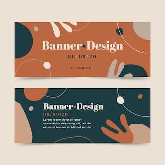 Concept de conceptions de bannières