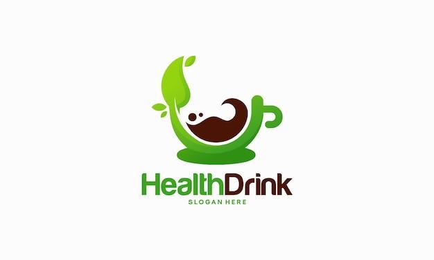 Concept de conceptions de logo de boisson santé, illustration vectorielle de boisson naturelle logo modèle