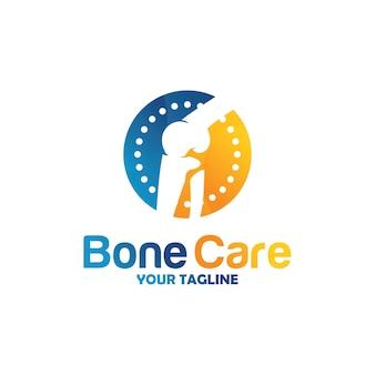 Concept de conceptions de logo de santé d'os, traitement d'os