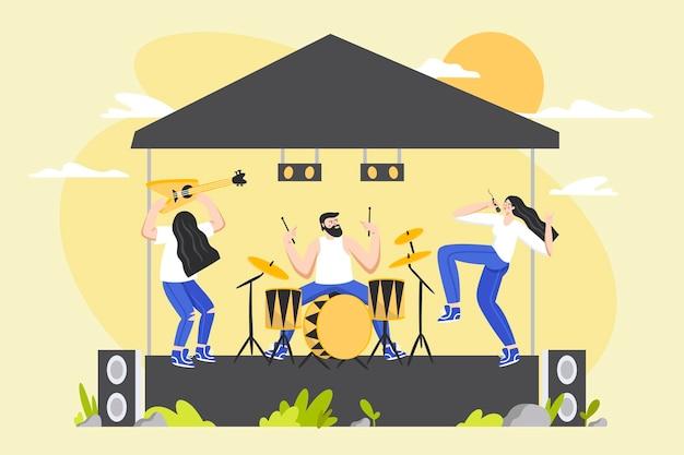 Concept de concert en plein air