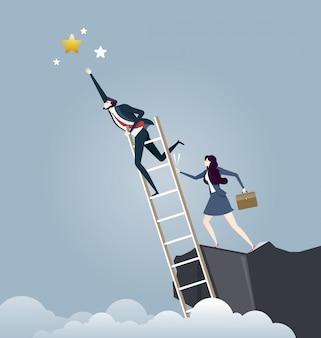 Concept de concurrence des affaires sans éthique