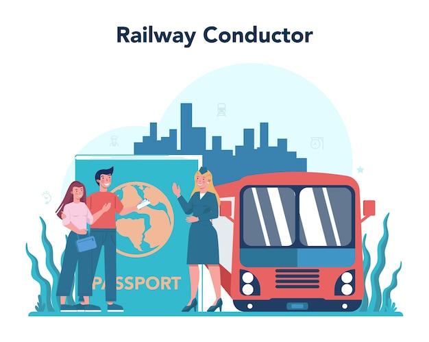 Concept de conducteur de chemin de fer