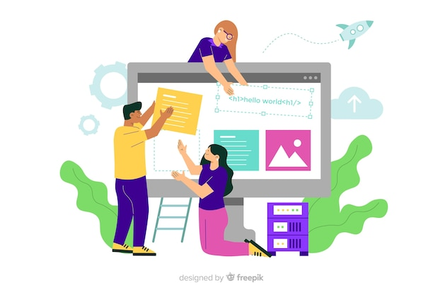 Concept de configuration de site web pour la page de destination