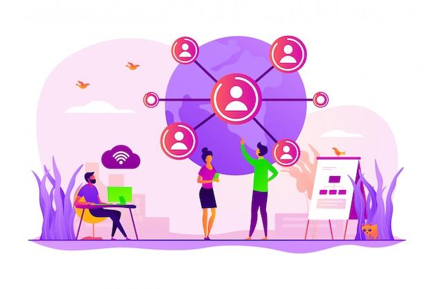 Concept de connexion au réseau mondial.