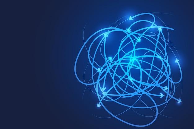 Concept de connexion de fond ligne abstraite. concept de transfert. concept de données.