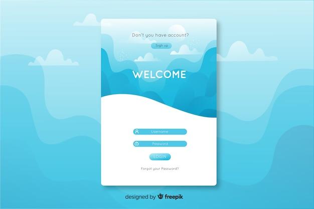 Concept de connexion pour la page de destination