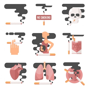 Concept de consommation de nicotine, fumer enceinte