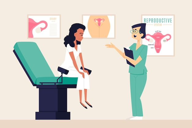 Concept de consultation de gynécologie