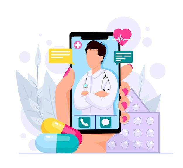 Concept de consultations médicales en ligne