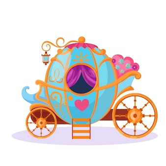 Concept de conte de fées avec chariot magique