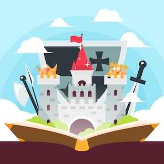Concept de conte de fées avec château