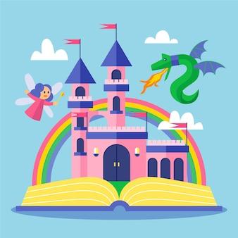 Concept de conte de fées coloré