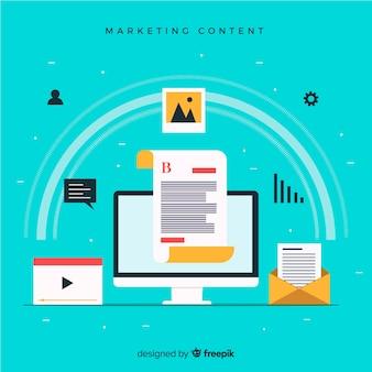 Concept de contenu marketing